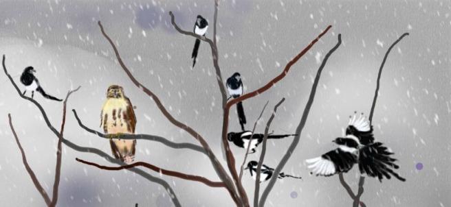 birds of a feather, chris kapsa painting